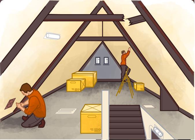 Лестницы, чердаки и подвалы